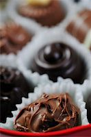 luxury and sweet praline and chocolate decoration food close up Stock Photo - Royalty-Freenull, Code: 400-05211753