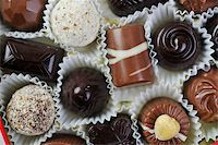 luxury and sweet praline and chocolate decoration food close up Stock Photo - Royalty-Freenull, Code: 400-05211755