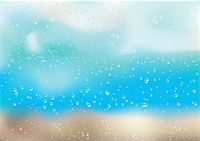 Rain drops and bubbles on the window Stock Photo - Royalty-Freenull, Code: 400-05212230