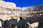 Ruins of famous roman amphitheater Colosseum in Rome, Italy Stock Photo - Royalty-Free, Artist: sailorr                       , Code: 400-05223848