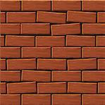 Background of a wall from a red brick. Vector Stock Photo - Royalty-Free, Artist: Gurbi4                        , Code: 400-05228350