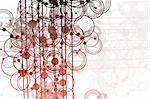 Clean Flowing Lines and Circles Abstract Background
