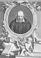 George Buchanan (1506-1582) on engraving from the 1700s. Scottish historian and humanist scholar. Engraved by T.Cook and published by G.Kearsly, No 46 Fleet Street in 1776. Stock Photo - Royalty-Freenull, Code: 400-05228828