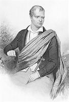Walter Scott (1771-1832) on engraving from the 1800s. Scottish historical novelist and poet. Engraved by A.H. Payne and published in Leipzig. Stock Photo - Royalty-Freenull, Code: 400-05228888