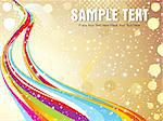 abstract colorful wave with golden & starts vector illustration Stock Photo - Royalty-Free, Artist: pathakdesigner                , Code: 400-05235670