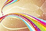 abstract colorful wave with golden background vector illustration Stock Photo - Royalty-Free, Artist: pathakdesigner                , Code: 400-05235671