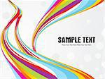 abstract colorful wave with gray background vector illustration Stock Photo - Royalty-Free, Artist: pathakdesigner                , Code: 400-05235673