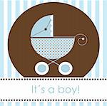 Baby boy arrival card, vector Stock Photo - Royalty-Free, Artist: kidesign                      , Code: 400-05242361
