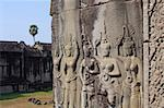 Apsaras - carvings of khmer dancing girls in Angkor Wat, Cambodia