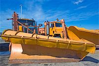 snow plow truck - Orange plow truck ready to work. Stock Photo - Royalty-Freenull, Code: 400-05245377