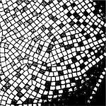 abstract black white mosaic,  this illustration may be useful as designer work