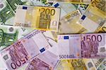 Close-up of 100, 200 and 500 Euro banknotes money. Can be used as background. Stock Photo - Royalty-Free, Artist: S_Christina                   , Code: 400-05247215