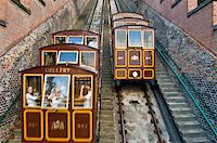 old funicular climbing up the castle hill in Budapest Stock Photo - Royalty-Freenull, Code: 400-05248845