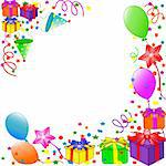 vector illustration of a Happy Birthday background Stock Photo - Royalty-Free, Artist: Trinochka                     , Code: 400-05249189