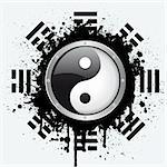 vector symbol of yin yang