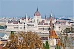 huge parliament in Budapest at the Danube Stock Photo - Royalty-Free, Artist: Jule_Berlin                   , Code: 400-05251455
