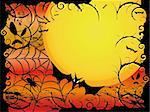 Halloween card or background in orange and red design