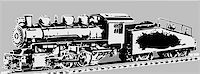 Vector illustration of old locomotive Stock Photo - Royalty-Freenull, Code: 400-05256082