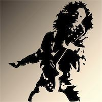 Vector illustration of rock guitar player Stock Photo - Royalty-Freenull, Code: 400-05256084