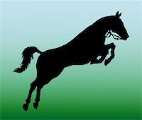 vector silhouette of jumping horse Stock Photo - Royalty-Freenull, Code: 400-05256085
