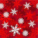 Seamless snowflakes background for winter and christmas theme Stock Photo - Royalty-Free, Artist: angelp                        , Code: 400-05256341