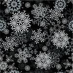 Seamless snowflakes background for winter and christmas theme Stock Photo - Royalty-Free, Artist: angelp                        , Code: 400-05256342