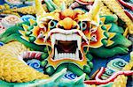 Typical auspicious dragon status in chinese temple that brings good luck. Stock Photo - Royalty-Free, Artist: szefei                        , Code: 400-05256566