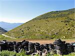 wheels in the middle of the mountains, Spain Stock Photo - Royalty-Free, Artist: csp                           , Code: 400-05261068