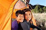 FamilyCamping at Colorado Rocky Mountains Stock Photo - Royalty-Free, Artist: Studio1One                    , Code: 400-05262865