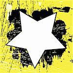 Yellow Grunge background with black spots