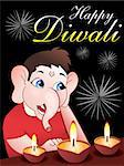 Diwali background vector illustration Stock Photo - Royalty-Free, Artist: pathakdesigner                , Code: 400-05268446
