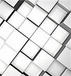 3d cubes background - illustration Stock Photo - Royalty-Free, Artist: drizzd                        , Code: 400-05270847