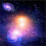 Galactic Space Stock Photo - Royalty-Free, Artist: rolffimages                   , Code: 400-05271790