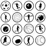 vector set of sport icons Stock Photo - Royalty-Free, Artist: emirsimsek                    , Code: 400-05271897