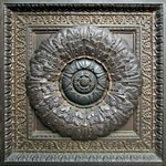 Historic Building Bronze Door Floral Architectural Detail Stock Photo - Royalty-Free, Artist: Davidgn                       , Code: 400-05273816