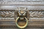 Antique Lion Head Bronze Door Knocker of Historic Building Stock Photo - Royalty-Free, Artist: Davidgn                       , Code: 400-05273826