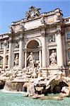 The Trevi Fountain ( Fontana di Trevi ) in Rome, Italy