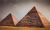 giza pyramids, cairo, egypt Stock Photo - Royalty-Freenull, Code: 400-05280289