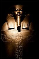 egypt - Egyptian sarcophagus on black, useful for concepts linked to death Stock Photo - Royalty-Freenull, Code: 400-05283701