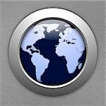 globe or world map in a button illustration Stock Photo - Royalty-Free, Artist: gunnar3000                    , Code: 400-05285590