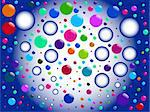 bubbles background - vector Stock Photo - Royalty-Free, Artist: paunovic                      , Code: 400-05286552
