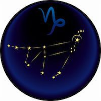 Capricorn constellation plus the Capricorn astrological sign Stock Photo - Royalty-Freenull, Code: 400-05288302