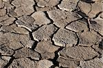 Cracked by the heat long lifeless soil Stock Photo - Royalty-Free, Artist: apopium                       , Code: 400-05288579
