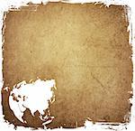 aged asia map vintage artwork for your design Stock Photo - Royalty-Free, Artist: ilolab                        , Code: 400-05290937