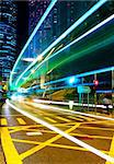 traffic in city at night Stock Photo - Royalty-Free, Artist: leungchopan                   , Code: 400-05291286