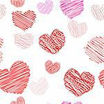 Seamless background from the Drawing hearts.