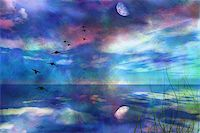 rolffimages (artist) - Skyscape with Moon Stock Photo - Royalty-Freenull, Code: 400-05294466