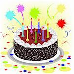 Cake. Illustration in vector format EPS Stock Photo - Royalty-Free, Artist: orensila                      , Code: 400-05296487