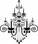 Stock Vector Illustration:  black chandelier - vector