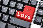 love button showing concept for online dating Stock Photo - Royalty-Free, Artist: gunnar3000                    , Code: 400-05300125